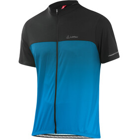 Löffler Flow Full-zip cykeltrøje Herrer, brilliant blue/black